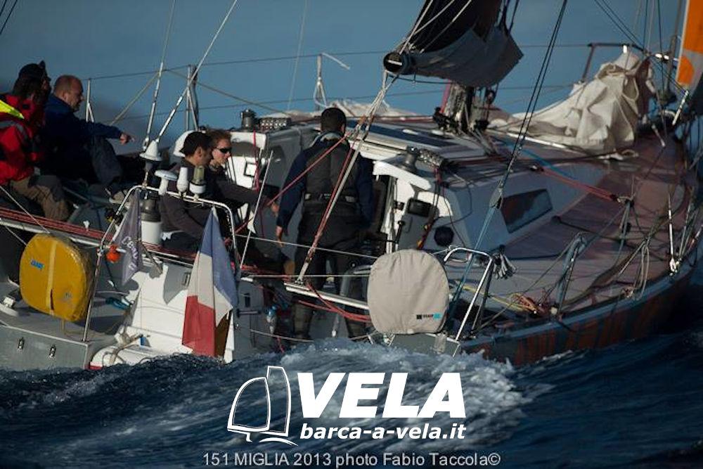 Wawa - la barca oggetto dell'articolo, in navigazione alla 151 miglia 2013.