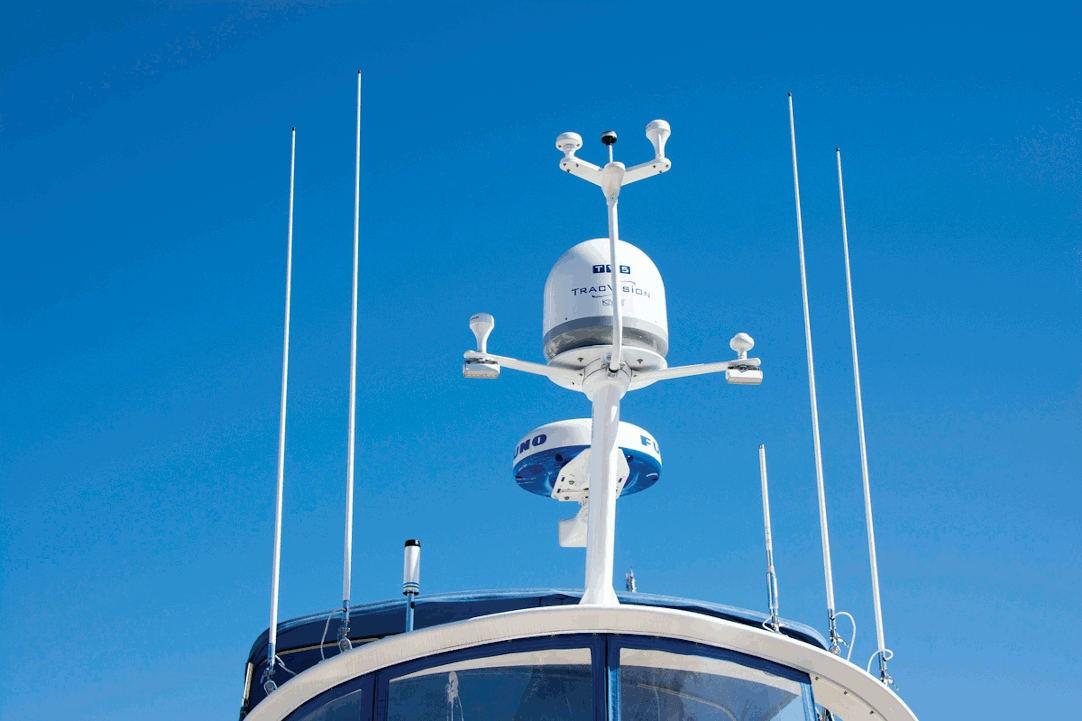 Radar su imbarcazione a motore