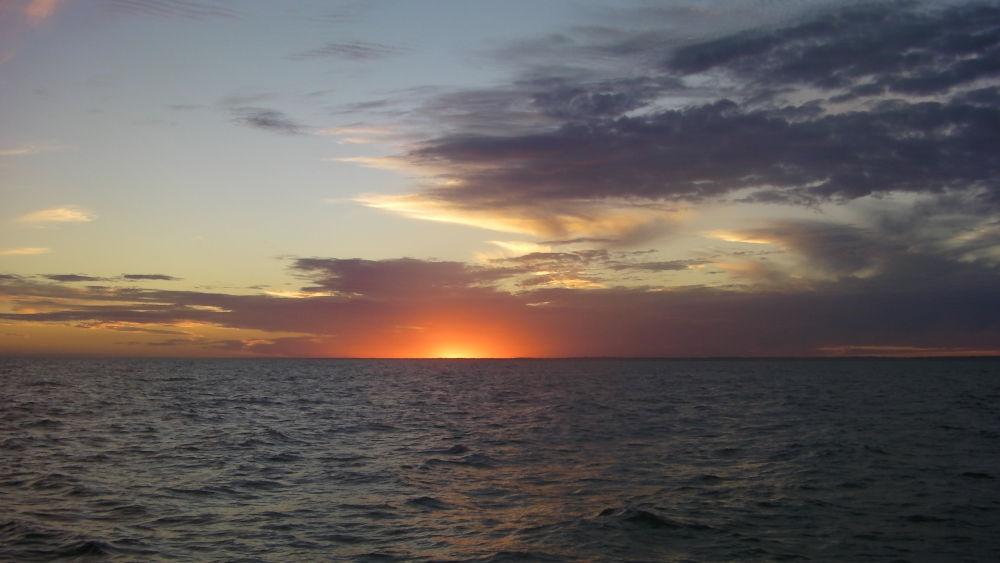 Capo Horn - Il primo tramonto in Atlantico