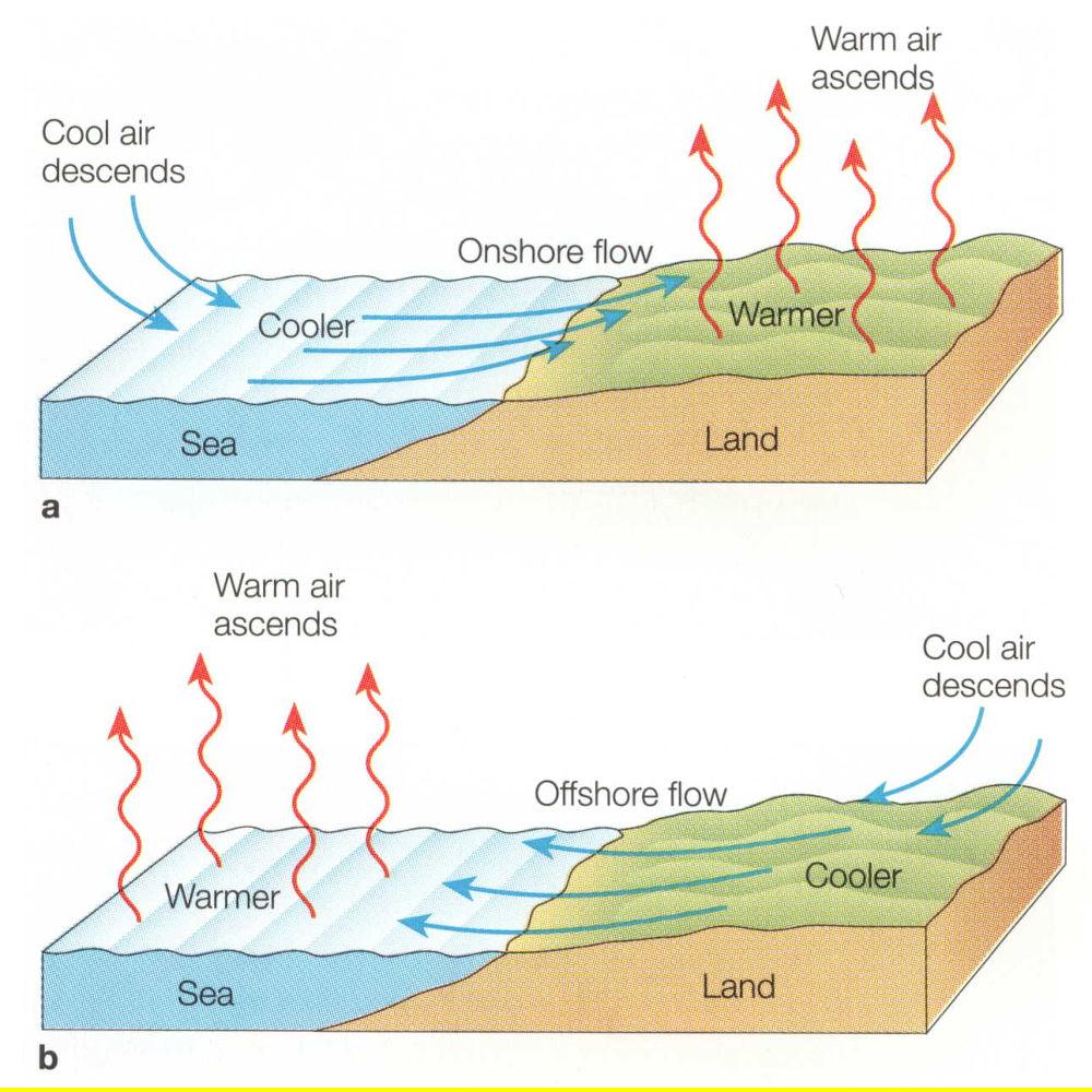 Meteorologia - Il regime delle brezze