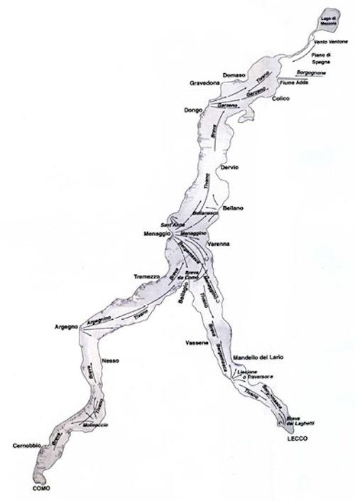 Nomi dei venti - Venti del lago di Como