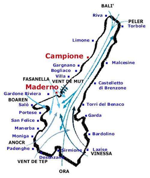 Nomi dei venti - Venti del lago di Garda