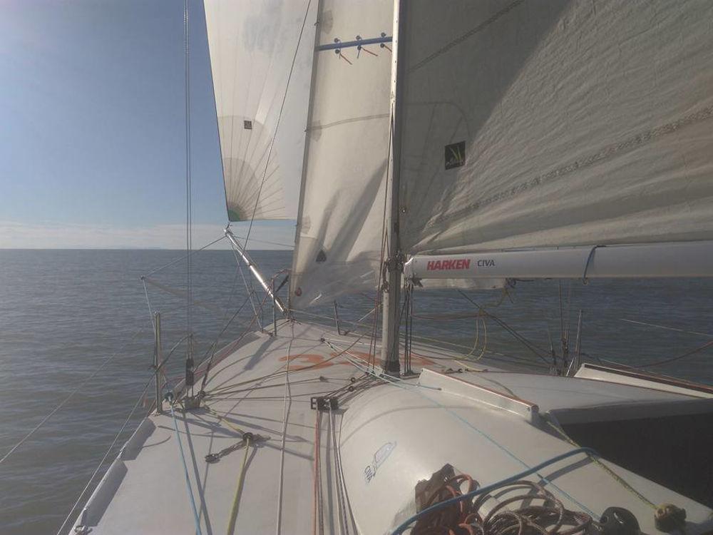 Strambata - Una barca con volanti strutturali richiede un livello tecnico molto alto