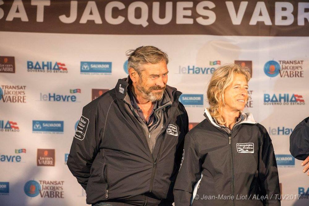 Halvard Mabire and Miranda Merron - Transat Jacques Vabre