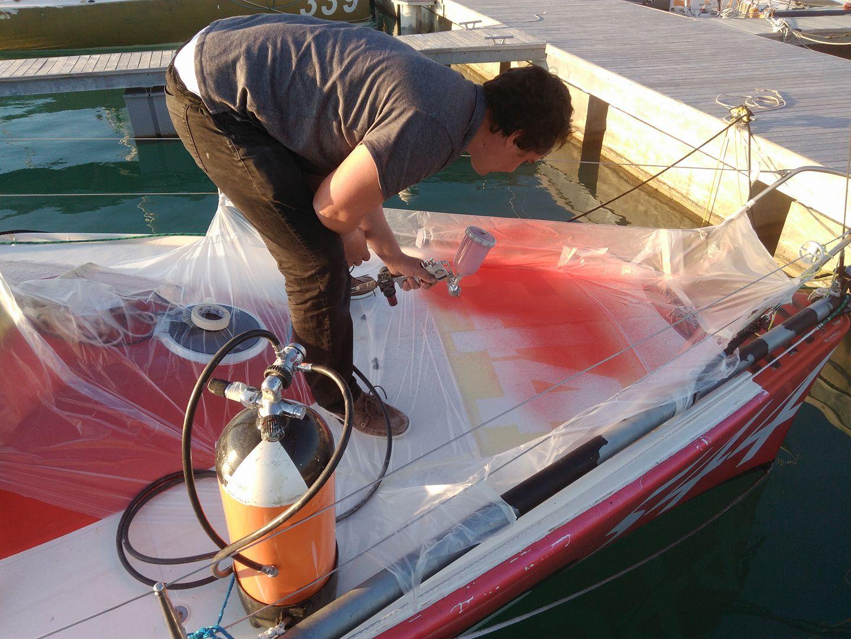 Lavori in barca - La pistola per verniciare diventa portatile