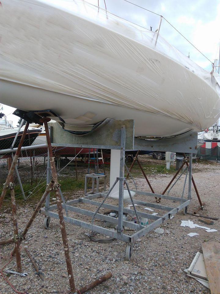 Fare carena alla barca - Le due M di tubi innocenti per il sollevamento temporaneo della barca