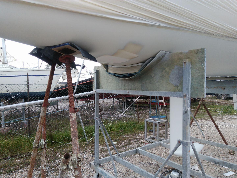 Fare carena alla barca - Supporti temporanei per spostare l'invaso