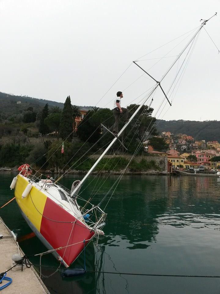 Fare carena alla barca - sbandare lo scafo con una trappa