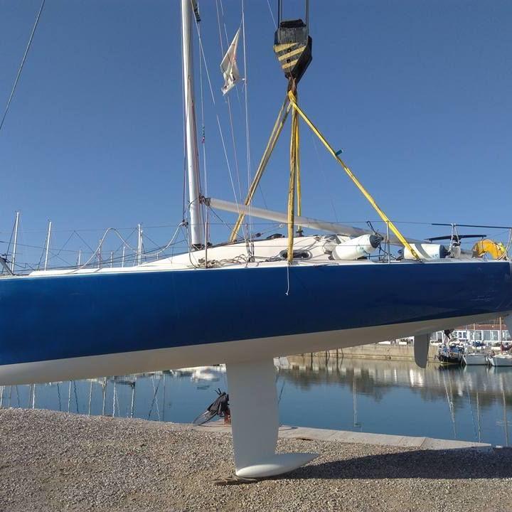 Fare carena alla barca - sollevamento con stroppi senza cinghie