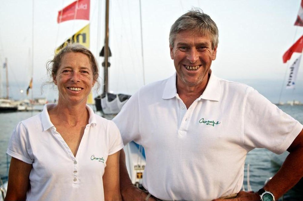 Miranda Merron e Halvard Mabire alla Global Ocean Race 2011-2012