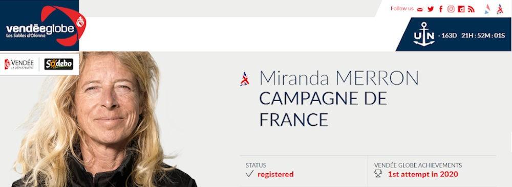 Miranda Merron first participation in the Vendée Globe