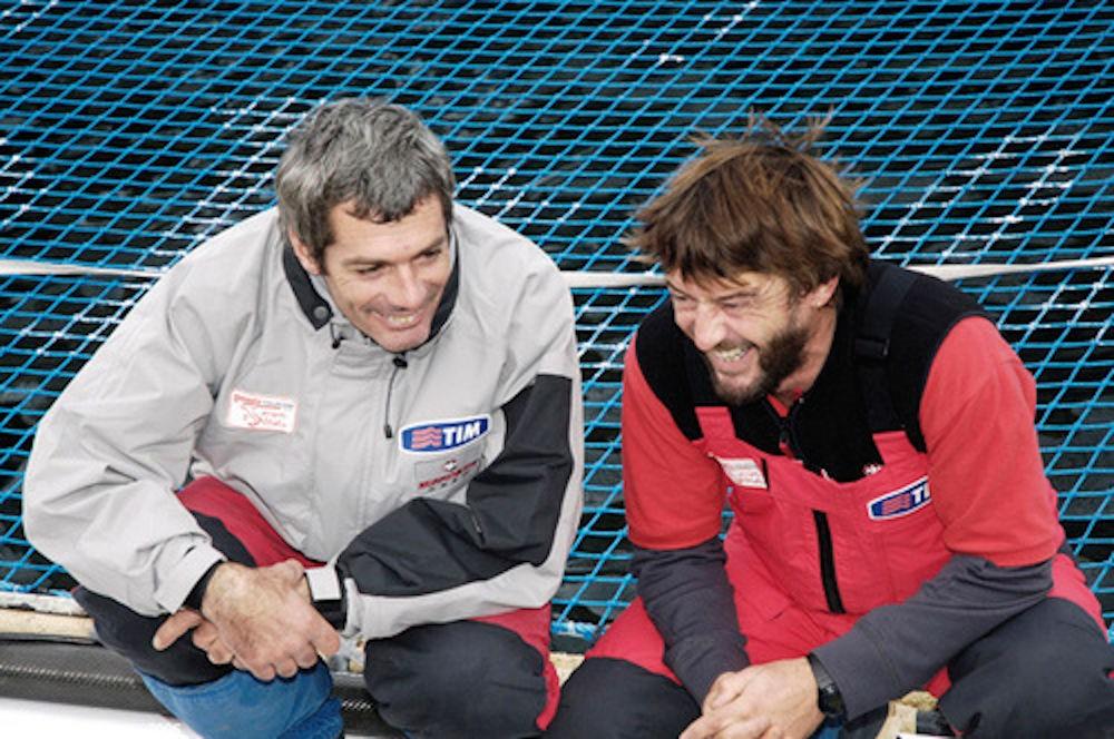 Vittorio Malingri e Giovanni Soldini
