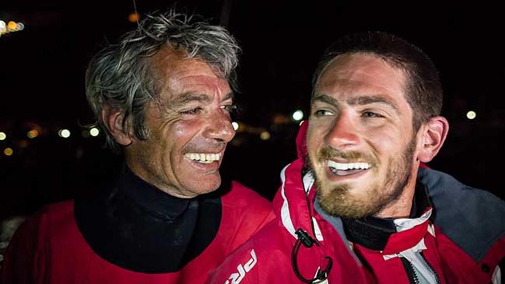 Vittorio e Nico Malingri dopo il record Marsiglia Cartagine