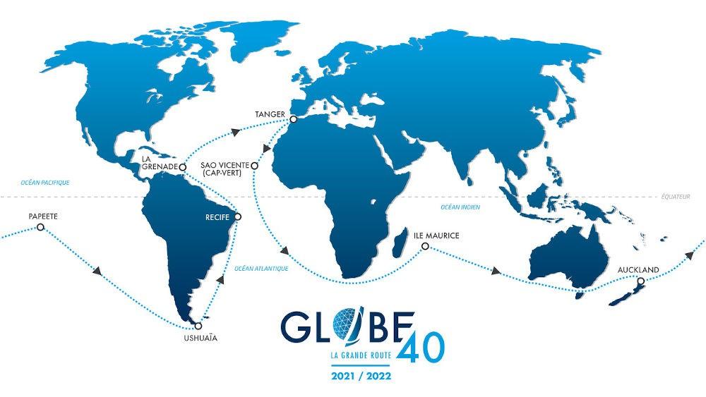 Giro del Mondo - Percorso della Globe 40 organizzata dai francesi