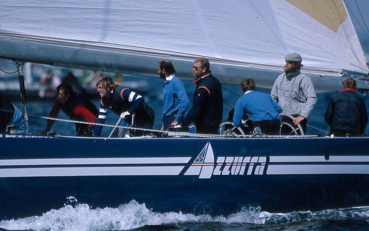 Velisti italiani - Azzurra con Mauro Pelaschier al timone