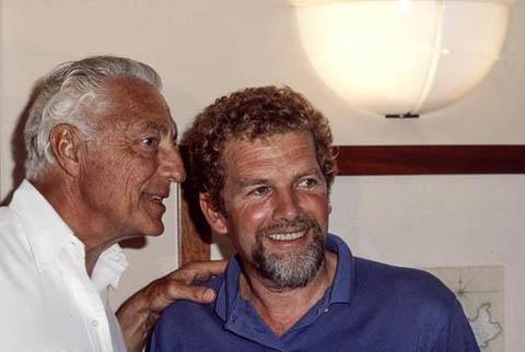 Velisti italiani - Cino Ricci con Gianni Agnelli
