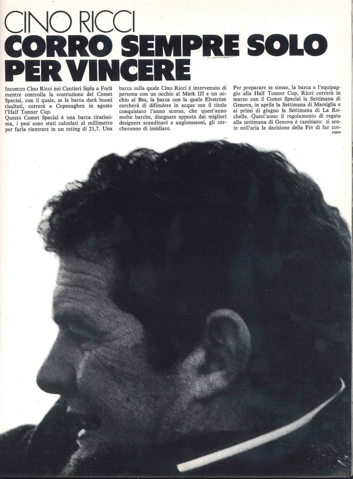 Velisti italiani - Cino Ricci il regatante