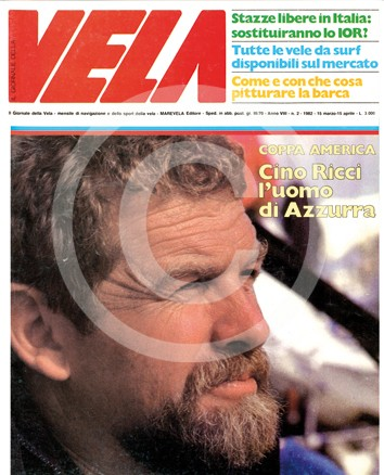 Velisti italiani - Cino Ricci sulla copertina del Giornale della Vela