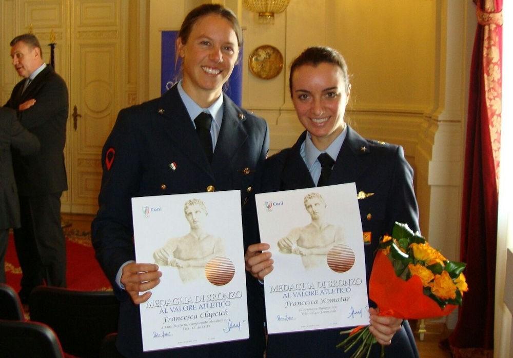 Velisti italiani - Francesca Clapcich - Medaglia di bronzo al valore atletico