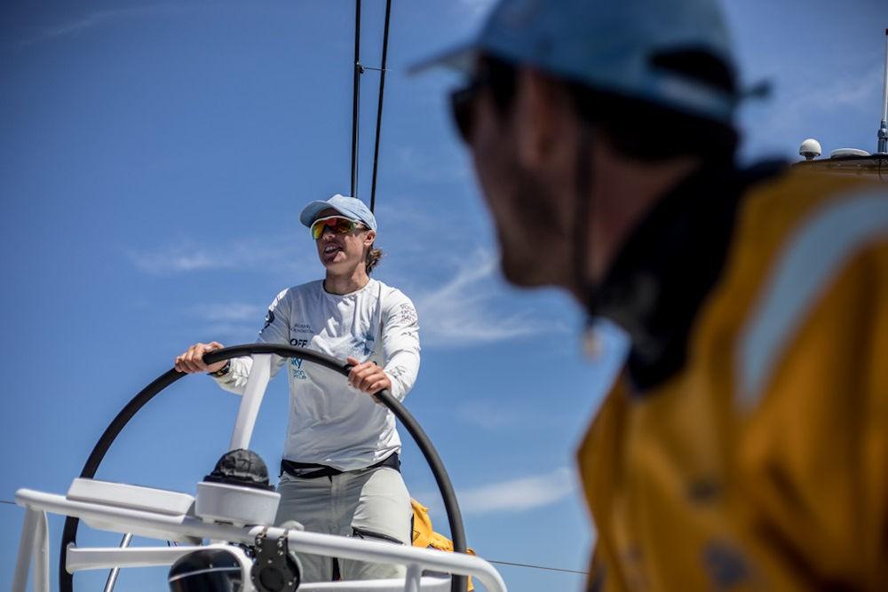 Velisti italiani - Francesca Clapich al comando durante la Volvo Ocean Race