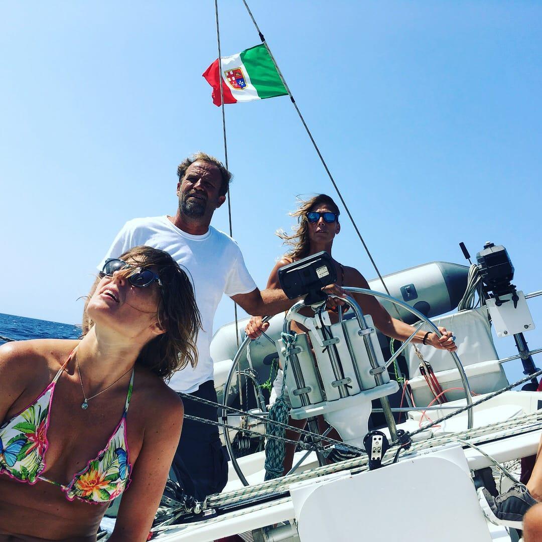 Velisti italiani - Franco Ricci durante un corso di vela