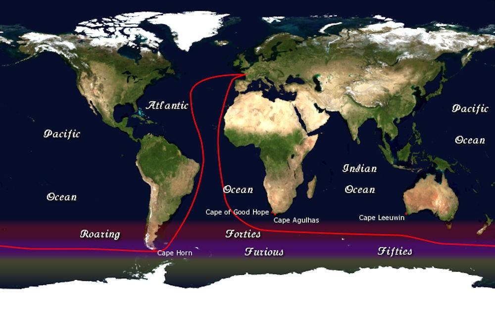 Velisti italiani - Il percorso della Vendée Globe