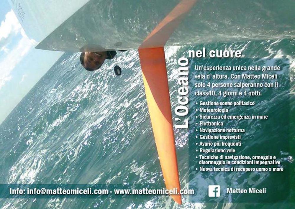 Velisti italiani - Matteo Miceli - I corsi su Eco40