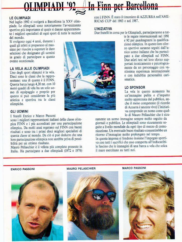 Velisti italiani - Mauro Pelaschier alle Olimpiadi 1992
