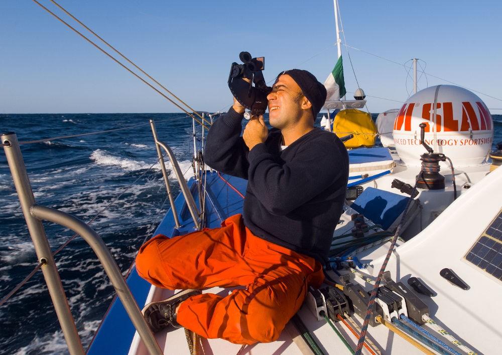 Velisti italiani - Simone Bianchetti in regata col sestante!