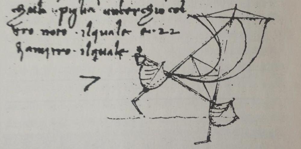 Multiscafo con foil - Schizzo di Leonardo da Vinci