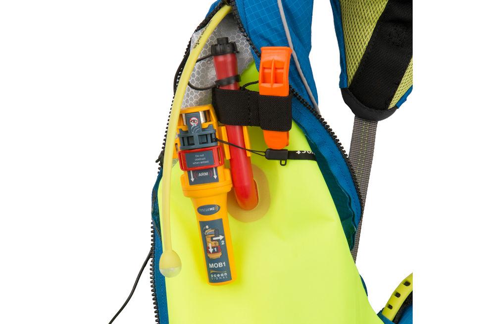PLB (AIS) integrato con giubbotto di salvataggio