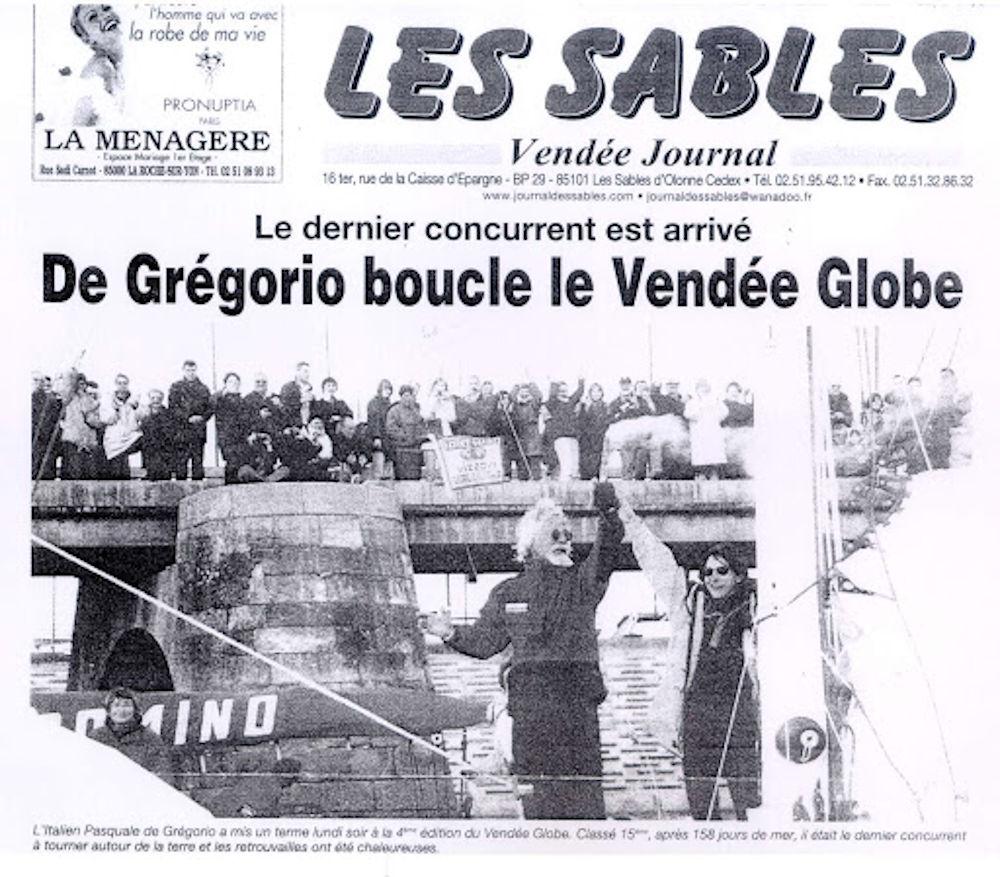 Pasquale De Gregorio - All'arrivo della sua Vendée Globe